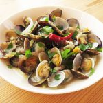 潮干狩りでアサリ料理