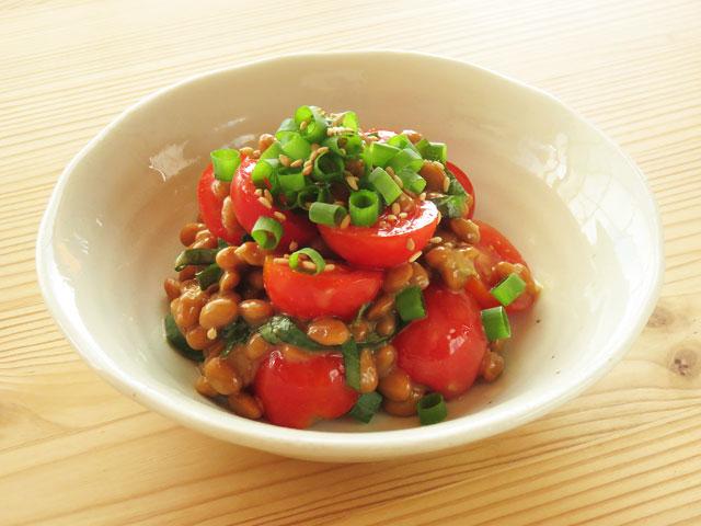 トマトと納豆の組み合わせ