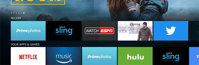 アマゾン Fire TVのホーム画面