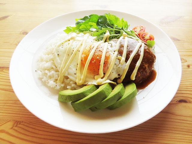 ロコモコ丼と簡単グレービーソース