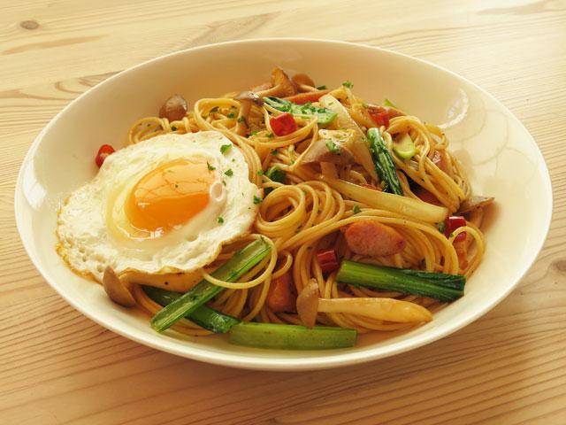 ロメスパ風、炒めスパゲティ
